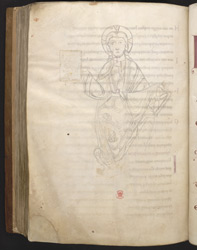 Sketch Of Christ In Majesty, In 'The Bosworth Psalter'
